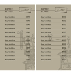prices for coffee vector image