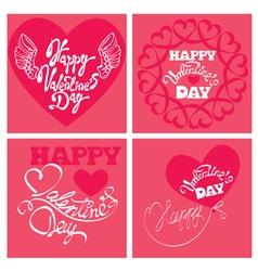 4 cards valentines day 380 vector image vector image