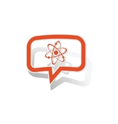 Atom message sticker orange vector