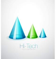 Glass cone background vector