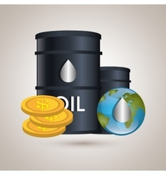 oil prices design vector image