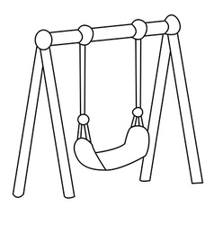 black and white swing vector image