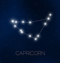 Capricorn constellation vector image vector image