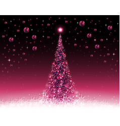 Christmas violet crimson background with tree and vector