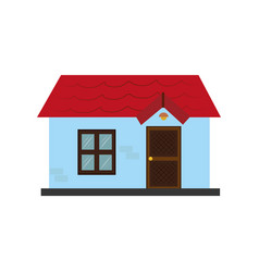 colorful silhouette with little house vector image vector image
