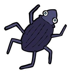 Comic cartoon bug vector