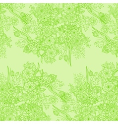 Cork background of flowers leaves and natural vector image vector image