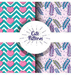 Cute patern abstract geometric background design vector