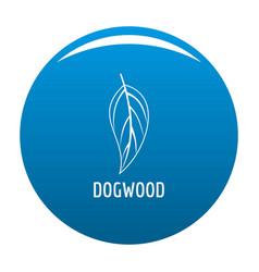 Dogwood leaf icon blue vector