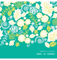 Emerald flowerals horizontal frame seamless vector