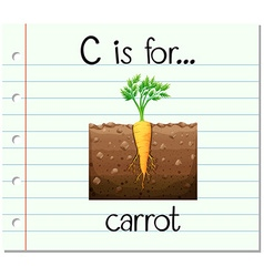 Flashcard alphabet c is for carrots vector