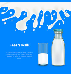 Fresh milk concept banner card vector