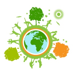 green world planet vector image vector image