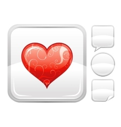 Happy valentines day romance love heart icon vector