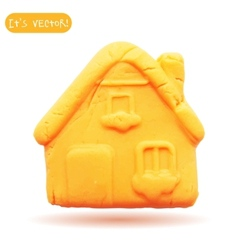 Icon of plasticine house vector image vector image