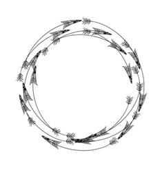 Isolated arrow of boho style design vector