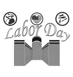 Labor day in the united states of america vector