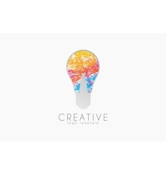 Lightbulb logo idea logo creative logo bulb vector