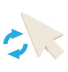 Loading pointer icon cartoon style vector