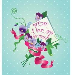 Mom card flower 380 vector