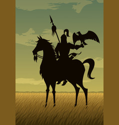 mongol warrior vector image