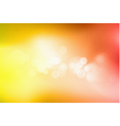 orange bokeh abstract light background vector image vector image