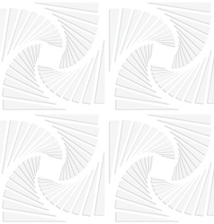 Paper white squares split and swirled vector