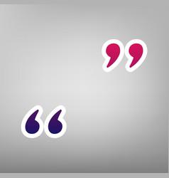 Quote sign purple gradient vector