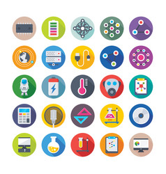 Science and space icons vector
