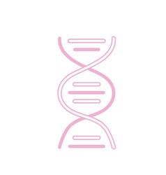 silhouette dna science cell medicine molecule vector image