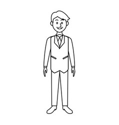 smiling business man in suit clothes standing vector image