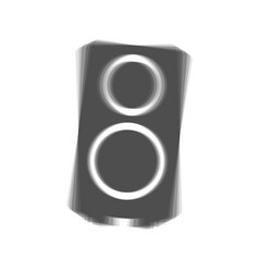 speaker sign gray icon vector image vector image