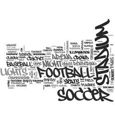 Stadium word cloud concept vector