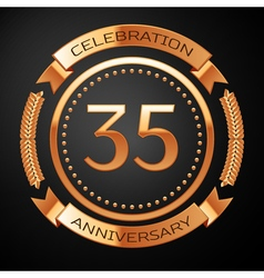 Thirty five years anniversary celebration with vector