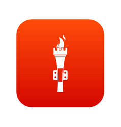 torch icon digital red vector image