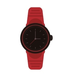 Analog watch icon vector