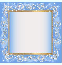 frame blue background with goldenen sample vector image