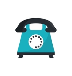 Isolated retro phone design vector
