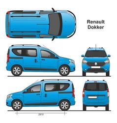 Renault dokker passenger van 2013 vector