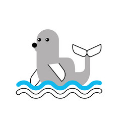 Cute seal isolated icon vector