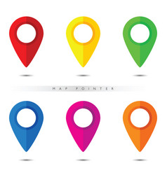 pointer for map in six color vector image