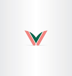 Logo v letter icon logotype vector