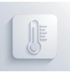 Modern thermometer light icon vector