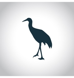 Stork simple icon vector