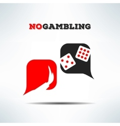 No gambling dialog sign background gaming vector