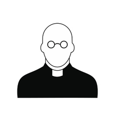 Priest black simple icon vector