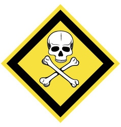 Skull and crossbones symbol vector