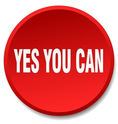 Yes you can red round flat isolated push button vector