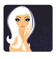 girl beauty vector image