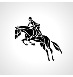 Horse race equestrian sport silhouette of racing vector